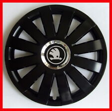 "4 x15"" Wheel trims fit Skoda Octavia Roomster Fabia Rapid - 15'' black"