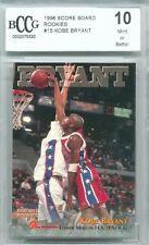 1996 Score Board Rookies Kobe Bryant Graded BCCG 10