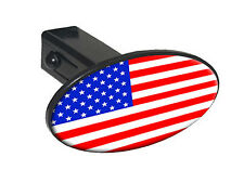 """USA Flag Country - United States - 1.25"""" Tow Trailer Hitch Cover Plug Insert"""