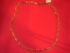 CHAINE PLAQUE OR MAILLE LARGE LONG 50 CM 19 G VINTAGE NEUF/NEW GOLD PLATED CHAIN