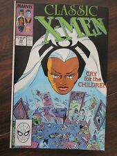 Classic X-Men #28 (Dec 1988, Marvel) Cry For The Children