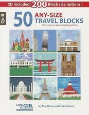 50 Any- Size Travel Quilt Blocks: Print Your Own Paper-Piecing Patterns! by Rita