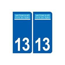 13 Saint-étienne-du-Grès logo ville autocollant plaque sticker arrondis