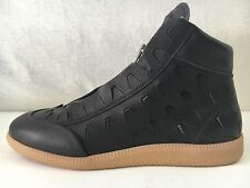 New Maison Margiela Leather High-Top Sneaker,Black 40/7.
