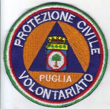 [Patch] PROTEZIONE CIVILE REGIONE PUGLIA VOLONTARIATO cm 9 toppa ricamo -083