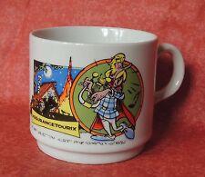 Mug Astérix - Assurancetourix. Céramique polychrome 1989. TBE