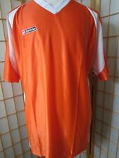 Mens New LOTTO ITALIAN SPORT DESIGN Orange Essential Jersey Shirt Shirts L
