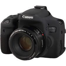easyCover Canon 750D / T6i EA-ECC750DB Camera Protective Case Black Silicone