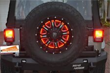 "Kip Rides 1986-2016 Jeep YJ TJ JK Wrangler 15"" Spare Tire Wheel LED Brake light"