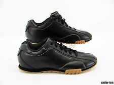 TOMMY HILFIGER Mens Black Leather Lace Up Casual Oxford Sneaker Shoe 10.5M #L6