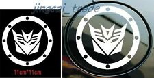 Silver Transformers Decepticon Car SUV Universal Fuel Tank Sticker Decal Vinyl