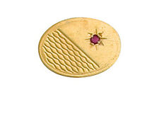 9ct Yellow Gold Oval Ruby Set Stick Pin Made To Order in Jewellery Quarter B'ham