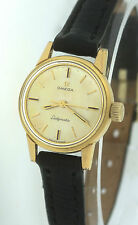 Vintage 1963 Ladies Women's Omega Ladymatic 671 Seamaster Gold Plated 21mm Watch