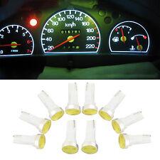 10x T5 Cob LED Instrument Gauge Dash White LED bulbs light 37 73 74 for Ford Nos