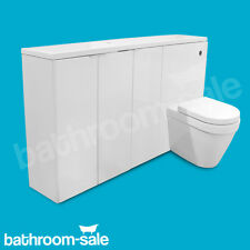 MyPlan 1500 Gloss White Furniture Complete Set For Slimline Basin & Top RRP £849