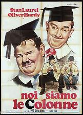 NOI SIAMO LE COLONNE MANIFESTO CINEMA STAN LAUREL OLIVER HARDY MOVIE POSTER 4F
