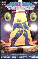 THE THANOS QUEST 1990, BOOK  #1 AND 2 RAW NOT CGC NM-