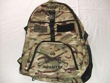 US ARMY INFANTRY BACKPACK DAY PACK BOOK COMPUTER BAG CAMO EMBROIDERED