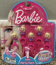 Squinkies 5 Rings Barbie Series 1 Party Pack Party Favors NIP