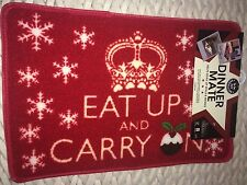 PET REBELLION CHRISTMAS DINNER MATE FOOD MAT FOR YOUR DOG EAT UP & CARRY ON