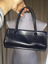 morlane Paris made in France navy blue sweet classic hand bag