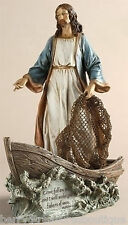 "11.25"" JESUS CHRIST THE FISHERMAN FIGURINE Statue Josephs Studio 42111"