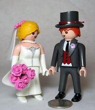 Playmobil Figures Bride Veil Bouquet Groom Hat Victorian Wedding Cake Top