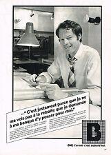 PUBLICITE  1981   BNP  banque  la retraite