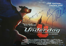 DISNEY UNDERDOG Signed 16x12 Print JASON LEE & JIM BELUSHI COA