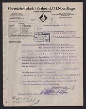 FLÖRSHEIM, Brief 1924, Chemische Fabrik Flörsheim Dr. H. Noerdlinger AG