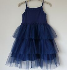 Immaculate Eliane et Lena Stunning Blue Dress with Net Frills, 4 yrs Worn Once!