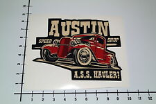AUSTIN SPEED SHOP Aufkleber Sticker Texas USA Jesse James Hot Rod Decal Mi229