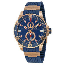 Ulysse Nardin Maxi Marine Diver Blue Dial 18kt Rose Gold Mens Watch 266-10-3-93