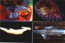 Four STAR TREK 1966 Special FX 8x10 color photos, Enterprise & Romulan