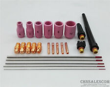 24 pcs TIG Welding Torch Common parts Kit for WP-9 WP-20 WP-25 WT20 Tungsten