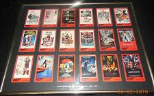 James Bond framed phonecard movies 1962-1997