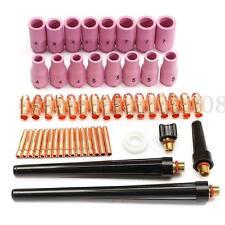 53PCS TIG Soudage Soudure Souder Collet BUSE Lentille Pr TIG WP-9/20/25 Torche