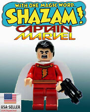 Shazam Minifigure US SHIPPER Custom toy Captain Marvel Movie TV Show Cartoon