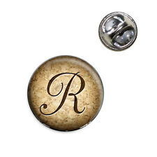 Letter R on Cork Design Lapel Hat Tie Pin Tack