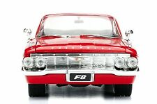 Jada Fast and Furious 8 Dom's 1961 Chevy Impala Diecast Car 1:24 Red 98426