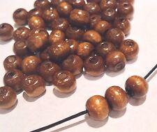 Handmade Wooden Beads. 9mm. Pack Of 100. Uk Seller