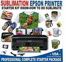 Sublimation Printer Epson  Starter Kit + Bulk Sublimation Ink Paper Subli