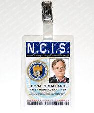 NCIS Donald Mallard 1.D. Distintivo Capo Medico Esaminatore Cosplay Costume
