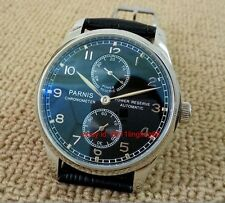 Parnis 43mm Power Reserve automatic Men's watch Seagull ST2542 movement
