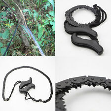Hand Chainsaw Wire Saw Survival Bushcraft Camping EDC Tool Pocket Gear 70cm