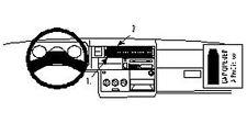 Brodit ProClip Montagekonsole für VW T4 Transporter Baujahr 1996 - 2002 [852296]