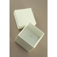NEW Plain Ivory white wedding ring box (not flat packed) 5x5x5cm