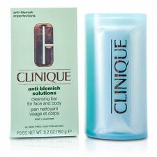 CLINIQUE Anti Blemish Solutions Cleansing Bar for Face and Body DISH 5.2oz NEW