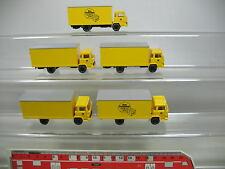 AF199-0,5# 5x Wiking H0 LKW/Lastwagen Magirus Post: Postpaket etc, TOP