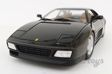 Hot Wheels 1989 89 Ferrari 348 TB Italia 1:18 Diecast Car Model Black X5530